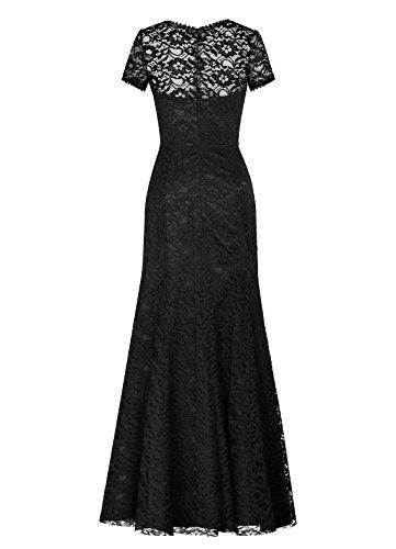 Dresstells Damen Abendkleider Bodenlang Homecoming Kleider Brautjungfernkleider Rot