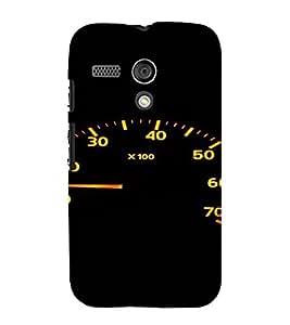 PrintVisa Speedometer Design 3D Hard Polycarbonate Designer Back Case Cover for Motorola Moto G