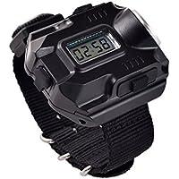 Linterna de brújula de reloj, recargable, resistente al agua y a los golpes, LED, correr, senderismo, camping, supervivencia a pie, caza, patrulla