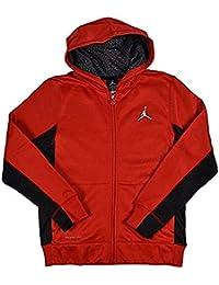bb374542f19 Jordan Boys Therma-Fit Hooded Sweatshirt Hoodie Gym Red/Black 951373-KR5