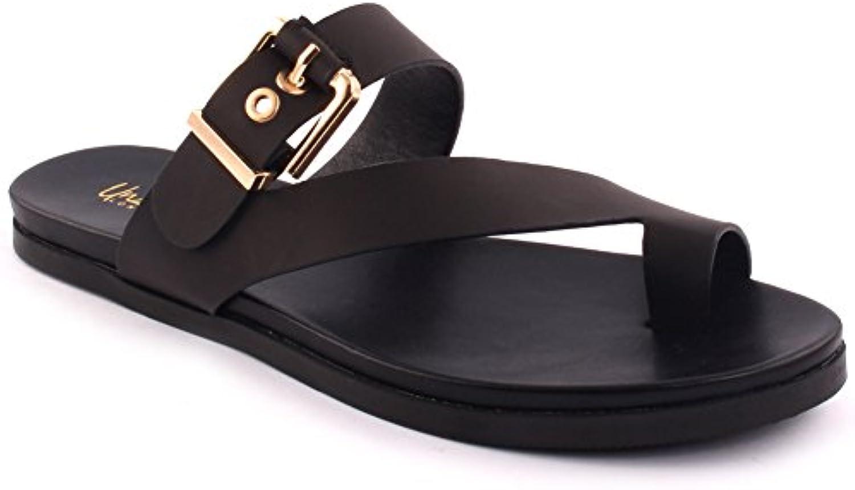 Unze Zapatillas de mujer 'Hudson' plano del dedo del pie correa ReinoUnido tamaño 3-8
