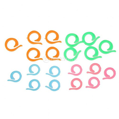 chengyida 100(2Größe Gemischt) Colorful Crochet strickbedarf Marker Stricken Ring Maker Halter, Split Ring Maschenmarkierer (Split-ring-marker)