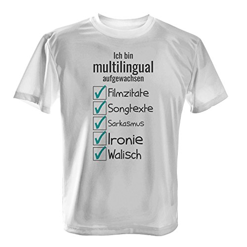 Ich bin multilingual aufgewachsen - Herren T-Shirt von Fashionalarm | Fun  Shirt Spruch Spaß