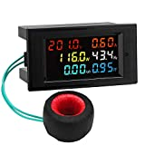 AC Display Meter, Droking 80-300V 100A Tensione Corrente Fattore di potenza Frequenza Monitor di energia elettrica Amperometro Voltmetro Multimetro Tester 110 V 220 V Pannello del rivelatore digitale