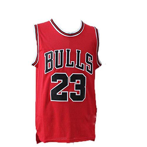 Michael Jordan Trikot, NBA Jersey Michael Jordan Nr. 23 Basketball Trikot Chicago Jersey Bulls Basketball Weste Shirt Basketball Anzug für Herren Männer (Trikot Michael Jordan)
