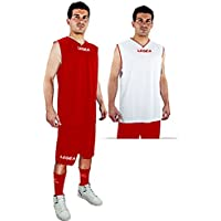 Legea Kit Basket las vegas Herren Bekleidung trikot Double Face short Weiss-Rot