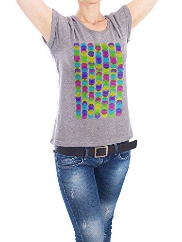 "Design T-Shirt Frauen Earth Positive ""colorful dots I"" - stylisches Shirt Abstrakt von Mia Nissen Grau"