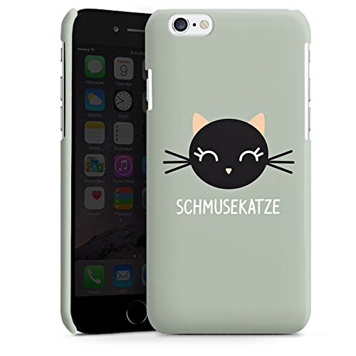 Apple iPhone 6 Housse Étui Silicone Coque Protection Chat Chat Chaton Cas Premium brillant