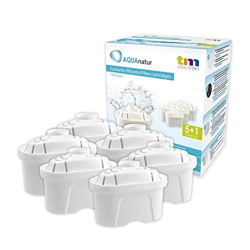 Tm Electron Tmfil006 Pack de 6 a 12 Meses compatibles con Las jarras brita maxtra, 1 Cartucho de Filtro purifica de 100 a 200 litros de Agua, plastic