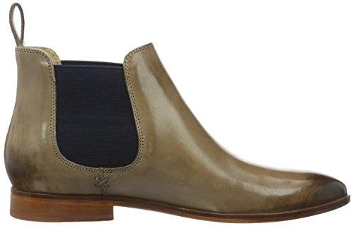 Melvin & Hamilton Damen Jessy 1 Chelsea Boots Grau (Crust Smog Ela Navy LS NAT.)