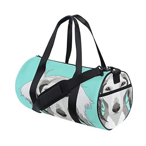 Buddy Dog Niedlichen Tier Selfie Benutzerdefinierte Multi Leichte Große Yoga Gym Totes Handtasche Reise Canvas Reisetaschen Mit Schulter Crossbody Fitness Sport Gepäck Für Jungen Mädchen Mens Womens