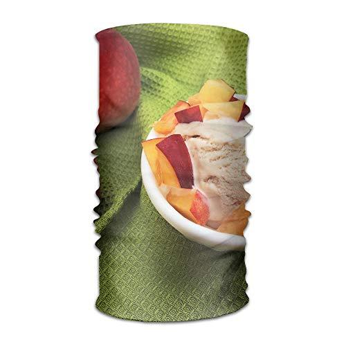 Peach Ice Cream Unisex Fashion schnell trocknender Microfaser Kopfschmuck Outdoor Magic Schal Halstuch mit Kapuze, super weicher Griff