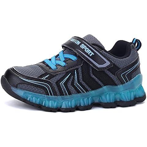 DoGeek Zapatos Led Niños Niñas 7 Color USB Carga Deportivas De Luces Zapatillas( mejor pedir una talla
