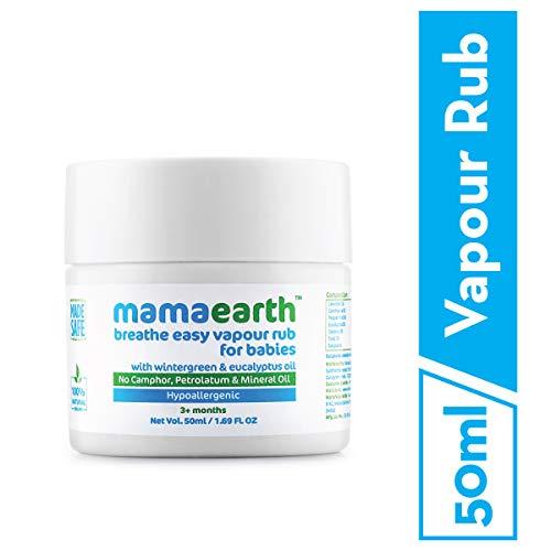 Mamaearth Natural Breathe Easy Vapour Rub Balm, 50g