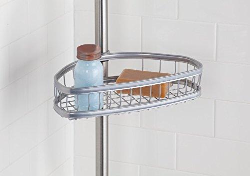 Mdesign mensola telescopica per doccia portaoggetti doccia in