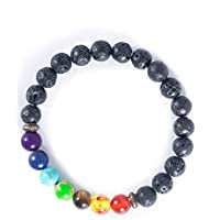 Dxarmony 7 Chakra Lavastein Diffusor Armband Reiki Healing Balancing Round Beads preisvergleich bei billige-tabletten.eu
