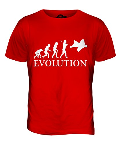 CandyMix Wingsuit Evolution Des Menschen Herren T Shirt Rot