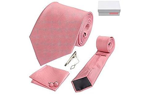 Et Costume Melbourne - Coffret Cadeau Melbourne - Cravate rose, boutons