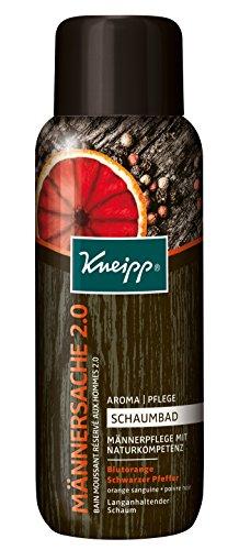 Kneipp Aroma Pflegeschaumbad Männersache 2.0, 3er Pack (3 x 400 ml) (Blut-orangen-aroma)