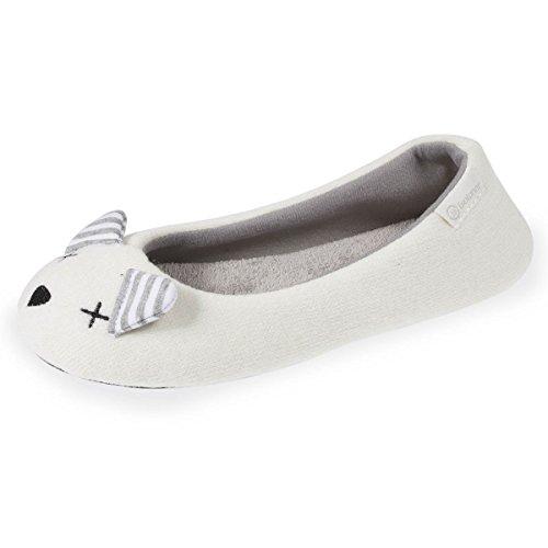 Ballerina-Hausschuhe Damen Maus