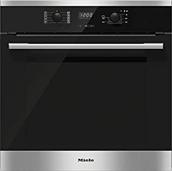 miele h2561b d 230 50 backofen elektro 76 l 7 segment display mit knebel steuerung. Black Bedroom Furniture Sets. Home Design Ideas