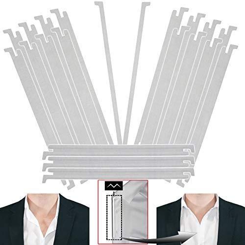 20 - Million Dollar Collar Kragenstütze - patentiert - für die Knopflochleiste - Hemd Kragen Versteifungen