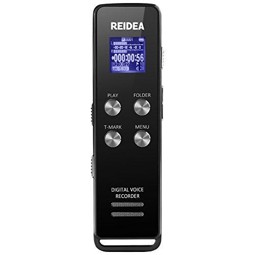 REIDEA Digitales Diktiergerät 1536Kbps 8GB Audio Voice Recorder LCD-Bildschirm Stereo Digitalrecorder Diktiergerät Spracherkennung MP3 Player für Büro Konferenz Schule Seminar Vorträge Interviews Usw