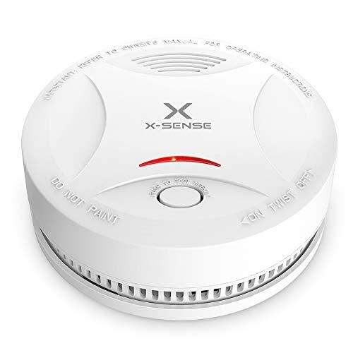 X-SENSE Rauchmelder mit 10 Jahren Batterielaufzeit, DIN EN 14604 und TÜV-Zertifizierter...