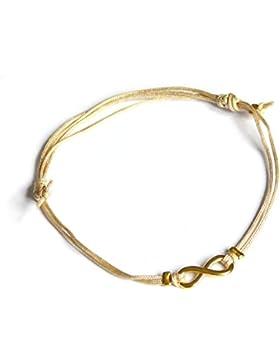 ♥ INFINITY ♥ Geschenkidee - Glücksbändchen Infinity, zartes Armband mit Unendlichkeits-Zeichen, Glücksbringer,...