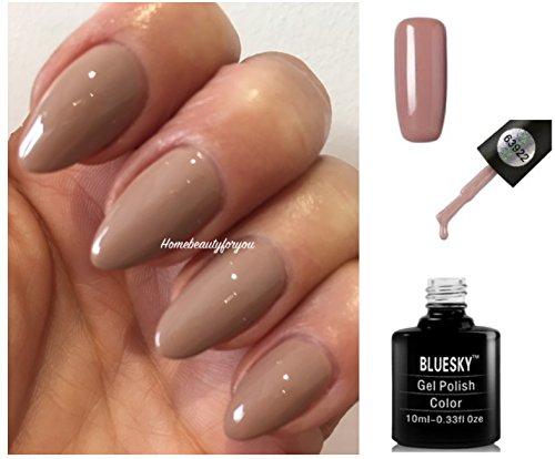 Bluesky 63922 Beige Tan Autumn Winter Nail Gel Polish UV LED Soak Off 10ml PLUS 2 Luvlinail Shine Wipes