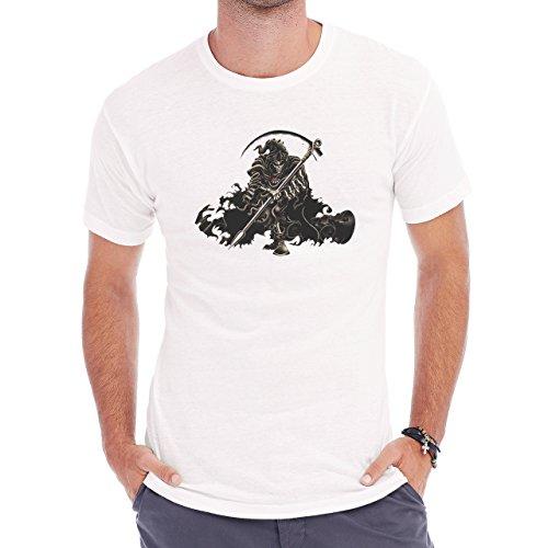 Reaper Death Black Skull RI Herren T-Shirt Weiß