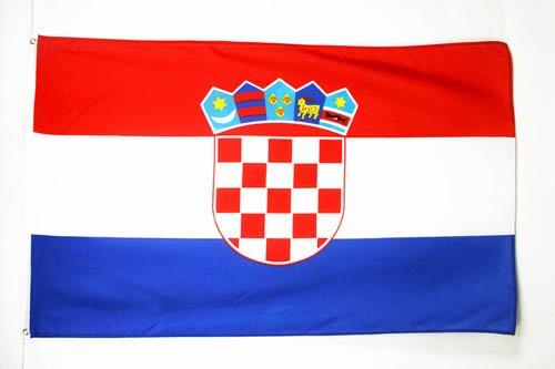 Kroatische Flagge (FLAGGE KROATIEN 150x90cm - KROATISCHE FAHNE 90 x 150 cm - flaggen AZ FLAG Top Qualität)