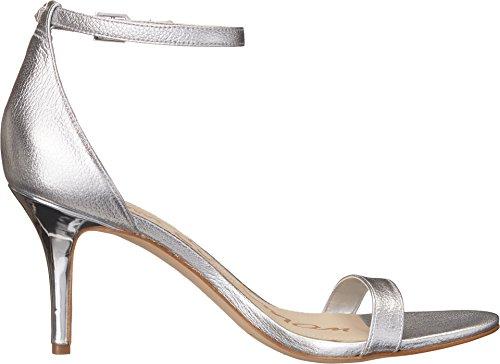 Sam Edelman Damen Patti Pumps Soft Silver Tumble Opal Metallic Leather