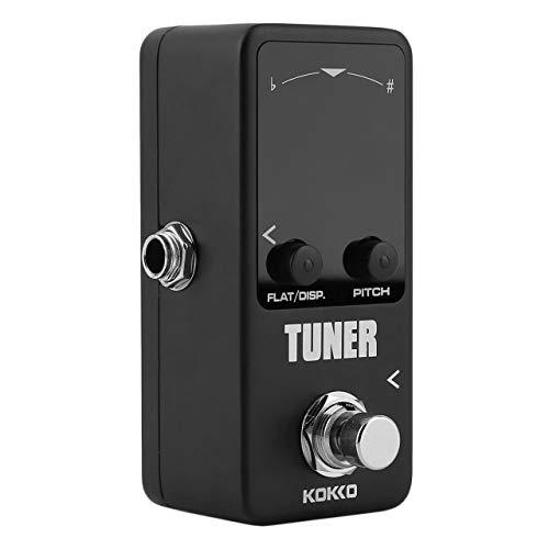 Tuner Guitarra Gitarre Bass Violine Ukelele Saiteninstrumente Tuner Effektgerät Dual Display (schwarz) ()