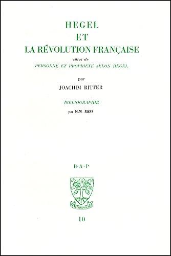 Hegel et la Révolution française