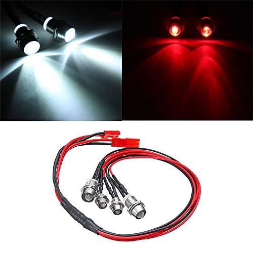 Generic WPL Front- oder Rücklicht LED für WPL B1 B16 B24 C14 C24 1/16 RC Autoteile