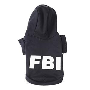 Fashion Vêtements/ Manteau/ Veste/ Capuche avec Dessin FBI pour Petit Chien et Chiot