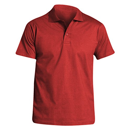 SOLS Herren Prescott Jersey Polo-Shirt, Kurzarm Rot
