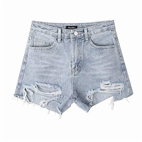 Yubaoer Damen Shorts Damen High Waist Shorts Kurze Hosen Jeans-Shorts | Lockere Kurze Hose aus hochwertigen Denim Vintage Gladiator Short Inclusive passendem Gürtel Blue XL - Bob Marley-baby-kleidung