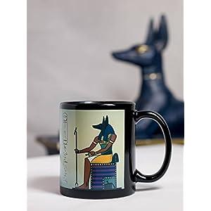 Ägypten Tasse Anubis - personalisiert mit Wunschnamen in Hieroglyphen, im Geschenkkarton mit Namen und Minicard mit Übersetzung der Hieroglyphen