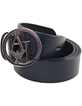 Armani Jeans Gürtel Damengürtel Belt Leder 921038 blau