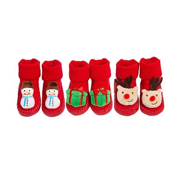 ZOOMY Calcetines navideños para bebés Calcetines Antideslizantes para Interiores para niños y niñas 1