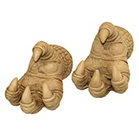 Design Toscano Talons of the Dunheviel Dragon Gothic Decor Wall Hanger Sculptures, 18 cm, Set of Two, Polyresin, Gothic Stone from Design Toscano