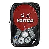 Haitian HT-S329 Speed - Set di 3 Racchette da Ping Pong + 3 Palline + 3 Stelle + Custodia