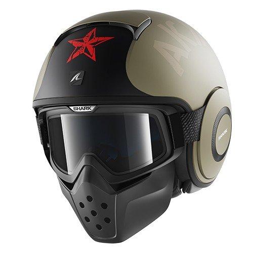 Shark Raw Soyouz Mat EAR–Casco para motocicleta, color beige (arena), tallaXL