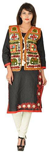Havya Fashion Women's koti Jacket (Multi-Coloured, Large)  available at amazon for Rs.349