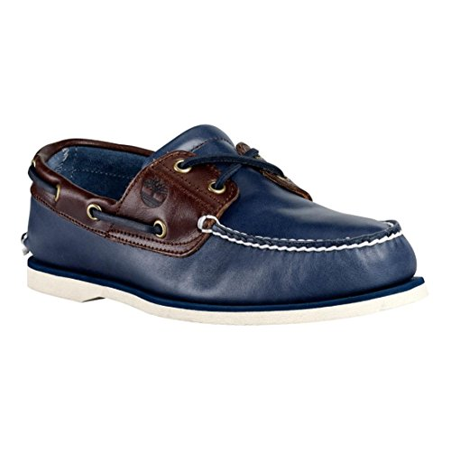Timberland Herren CLS 2-Eye Boad Halbschuh Blau (vintage indigo and potting soil two-tone)