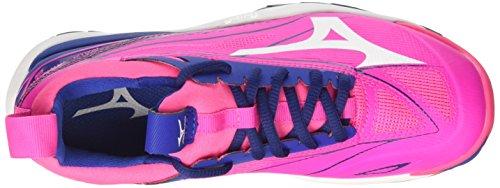 Mizuno Wave Mirage W, Scarpe da Ginnastica Donna Rosa (Pink Glo/White/True Blue)