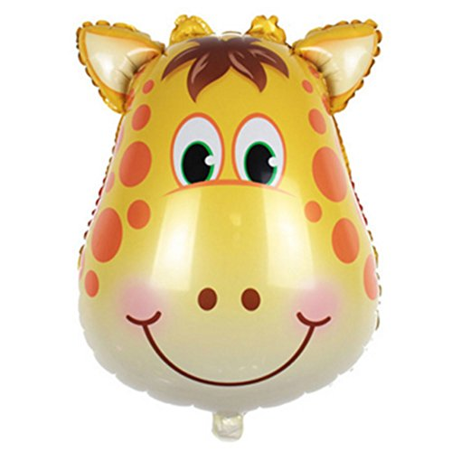 (Tierkopf Ballons, YooGer bunte Tiere wiederverwendbare Folie Ballons für Geburtstag Baby Shower Party Dekorationen Geschenk, 2 Pack (Deer))