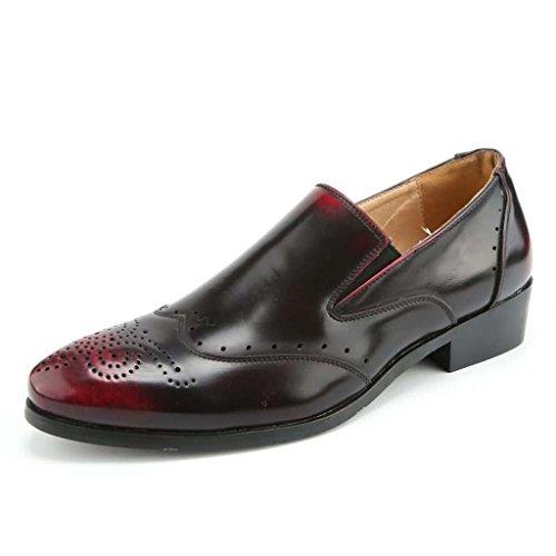 ZXCV Scarpe allaperto Scarpe casual da uomo in pelle nera casual nuove Rosso